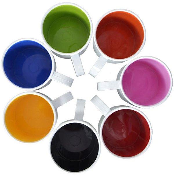 Caneca de polimero premium SFCT Resitec para sublimação - Interior colorido