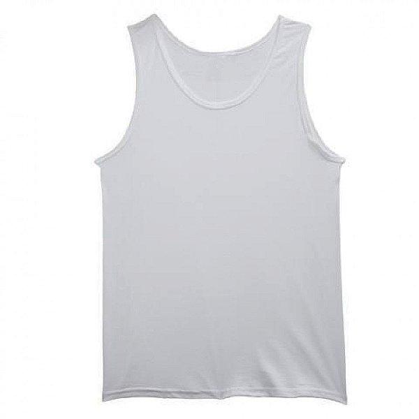 Camiseta Regata Masculina de Poliester - Branca