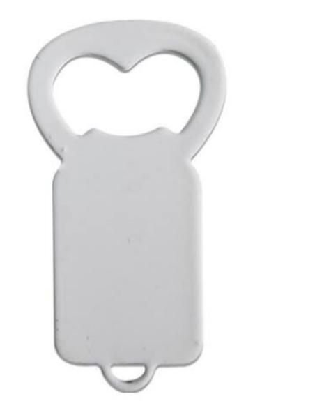 Chaveiro de metal inox Abridor - Branco