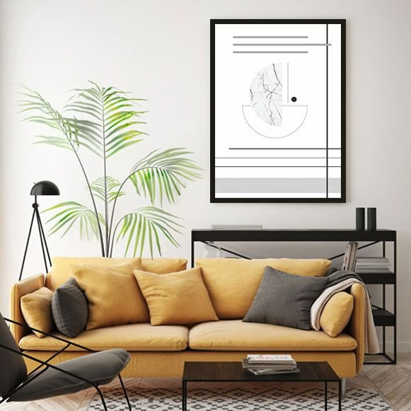 Quadros Decorativos Abstrato Com Molduras