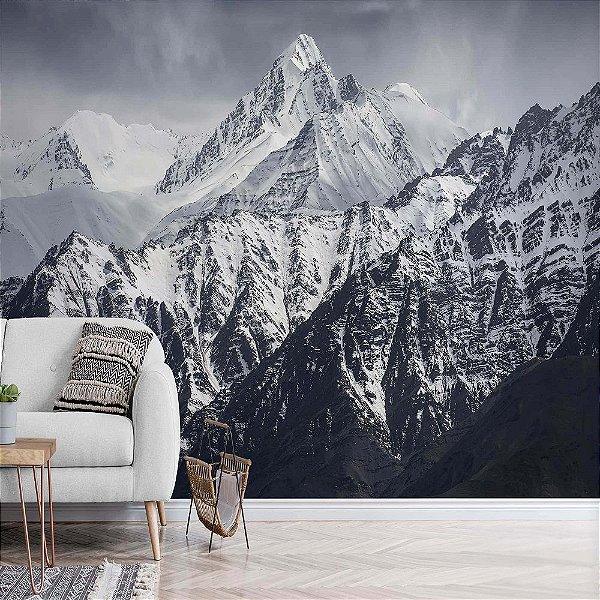 Papel de Parede Vinílico Lavável Foto Mural Montanhas - REF : 679982851