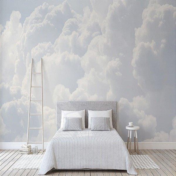 Papel de Parede Vinílico Lavável Foto Mural Nuvens  - REF : 770410075