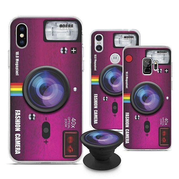 Capinha iPOP - Fashion Camera Rosa