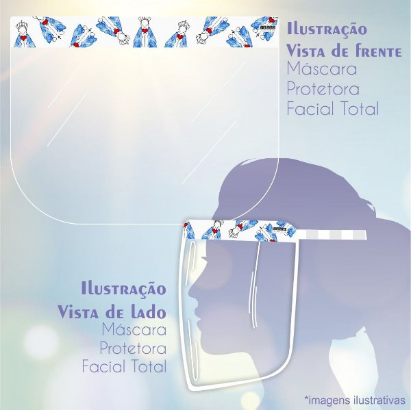 Máscara de Proteção Facial Total - Santa