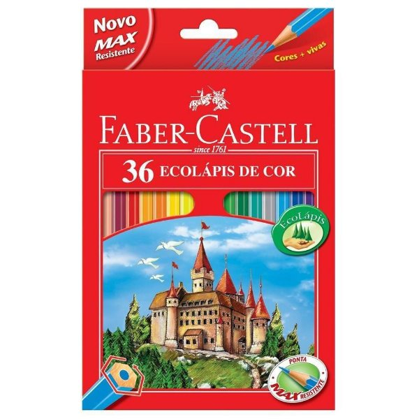 b1813db931 Lápis de Cor Faber-Castell 36 Cores Sextavado - https   www.novapolo ...