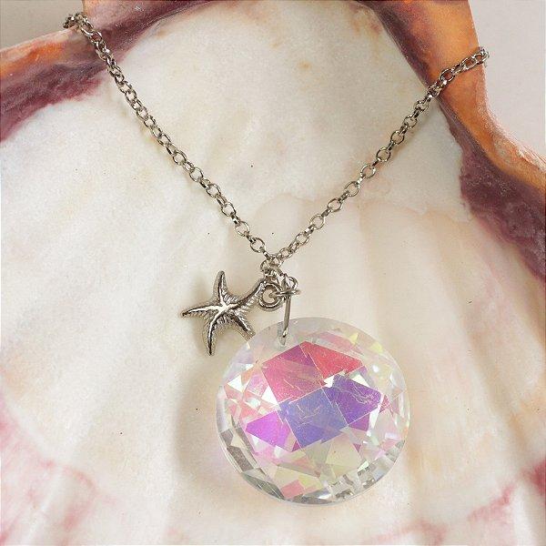 Colar Esfera de Cristal