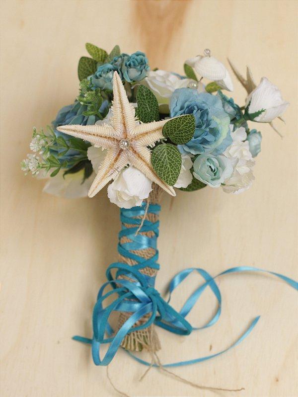 Buquê de Flores Noiva Sereia