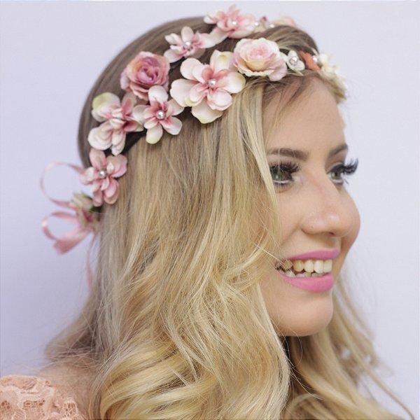 Tiara de Flores Dupla Ellie