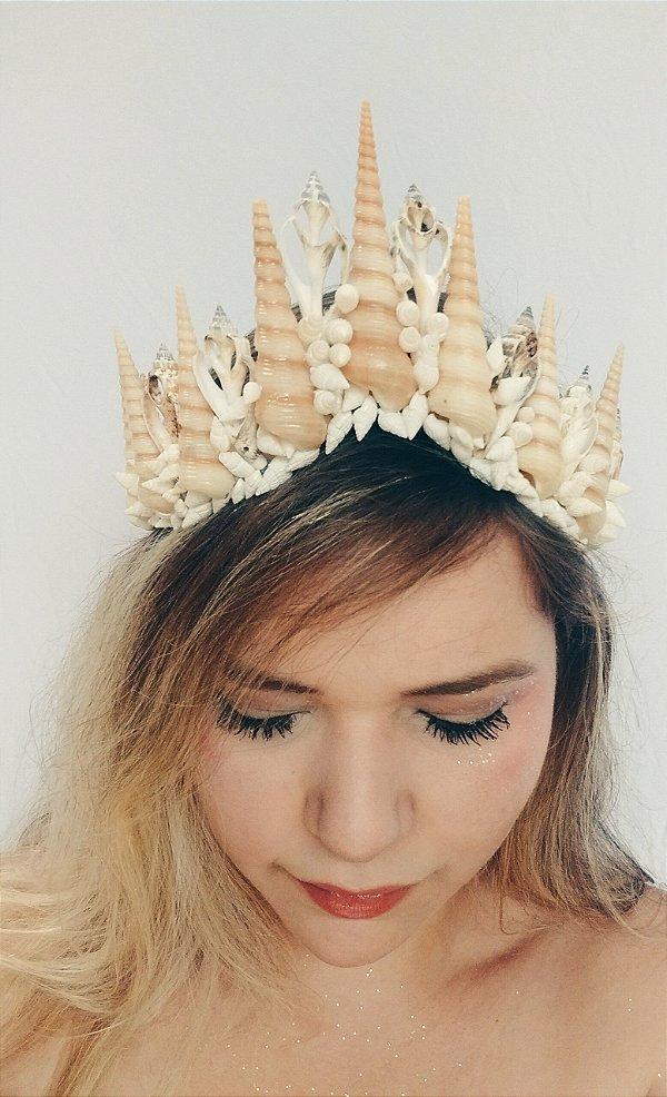 Coroa de Conchas Rainha do Mar