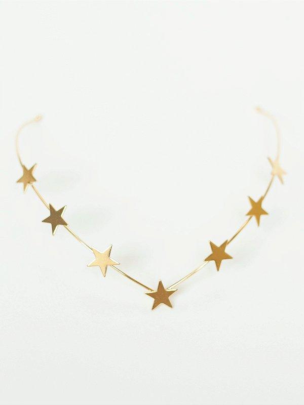Tiara de Nuca Estrela Dourada