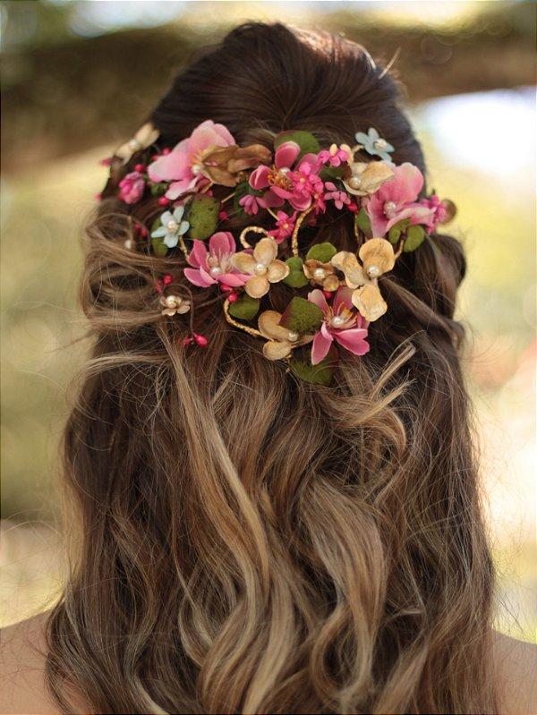 Coroa de Flores Cascata Amada Amante