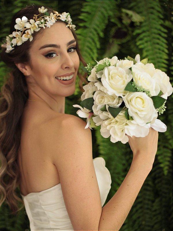 Buquê de Flores Noiva  Branco Bella