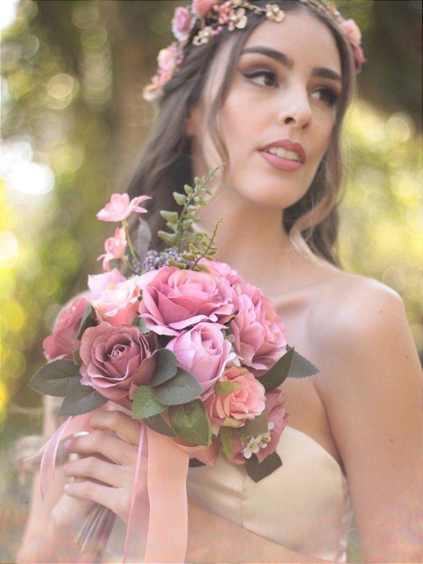 Buquê de Noiva Flores Artificiais Histórias