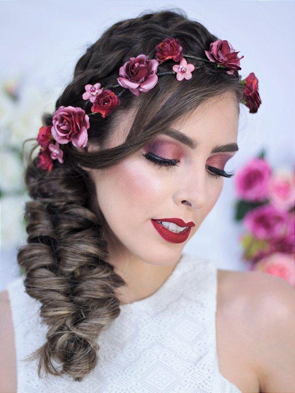Tiara de Flores Crepúsculo - várias cores