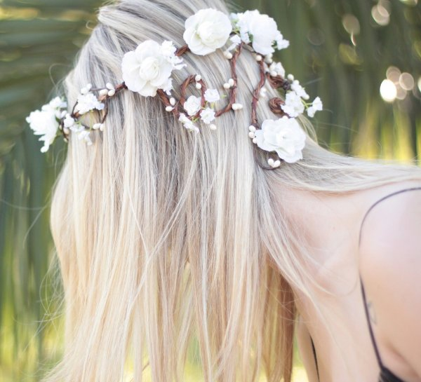 Coroinha de Flores Branco Clara