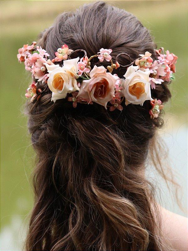 Arranjo de Cabelo Flores Beleza Rara