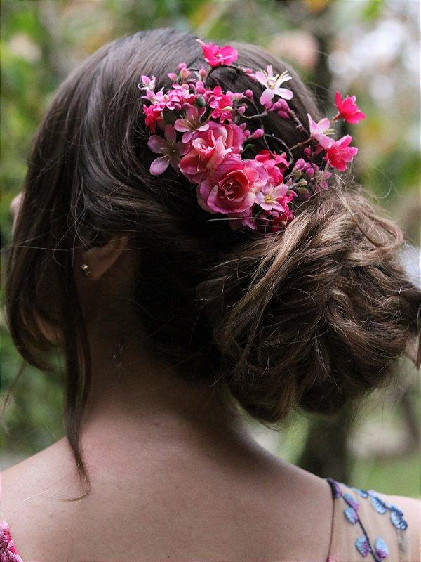 Pente de Cabelo Flores Rosamaria