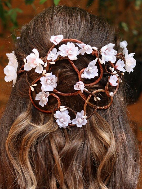 Tiara de Flores Cascata Arabesco
