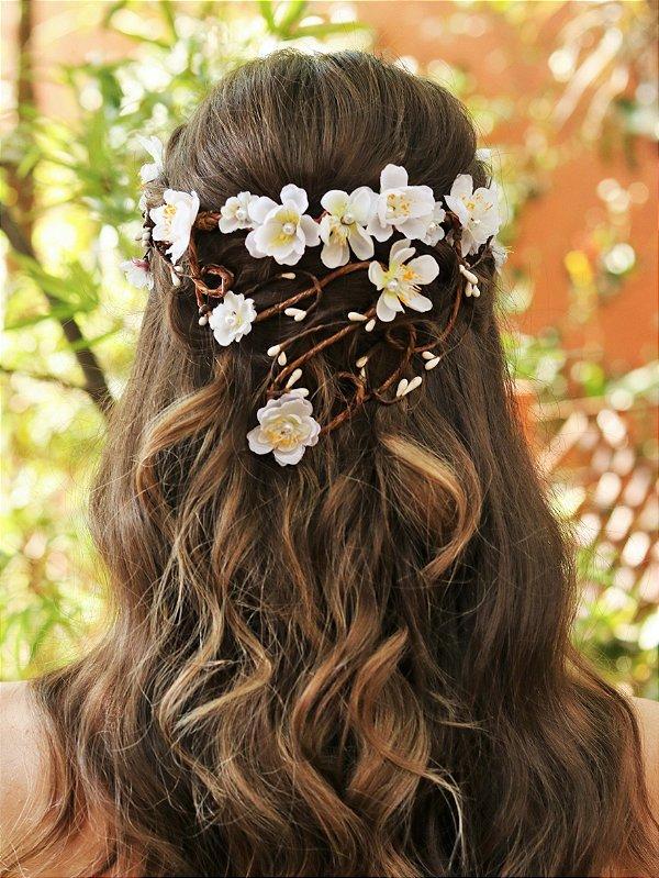 Tiara de Flores Cascata Celina