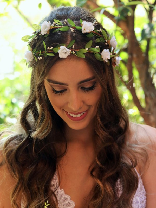 Tiara de Flores Dupla Beleza Pura
