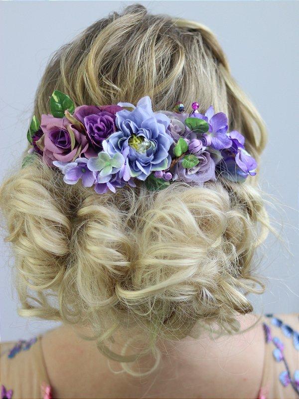 Arranjo de Cabelo Flores Violet