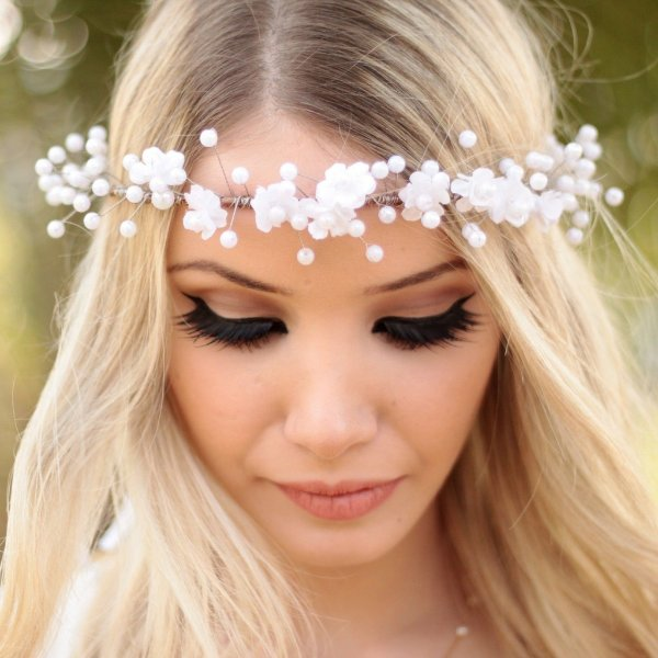 Arco de Flores Branco Íris