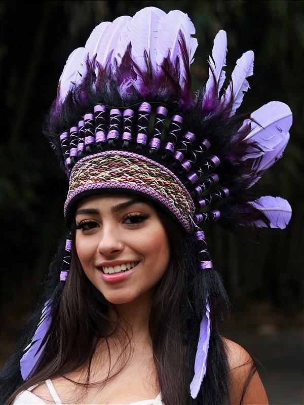 Cocar Chama Violeta