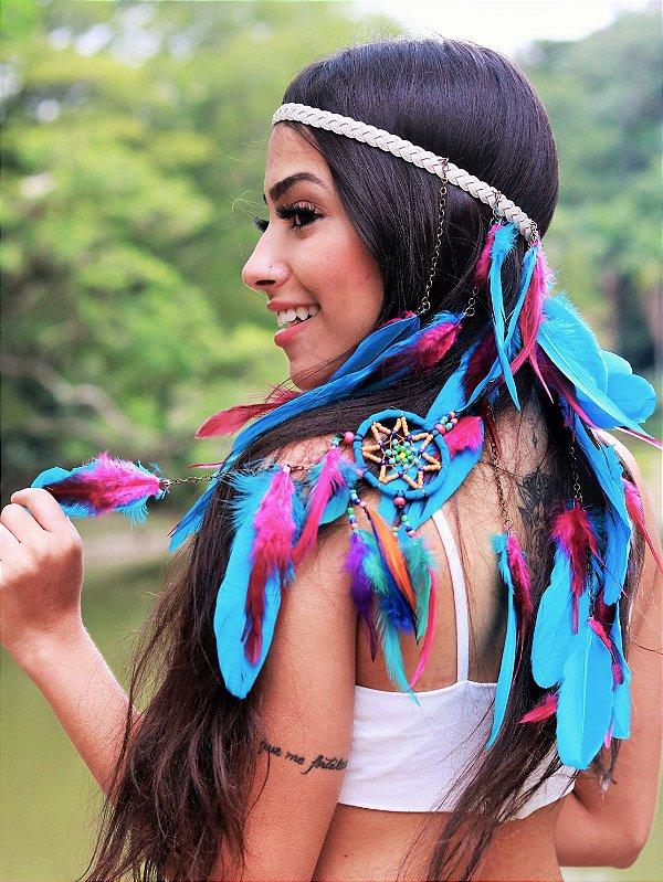 Headband de Penas Aiyra