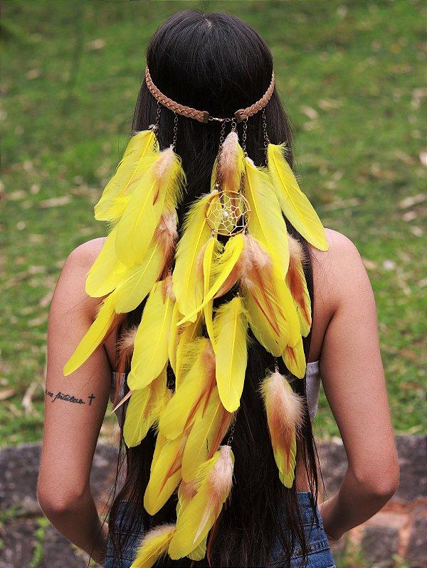 Headband de Penas Moara