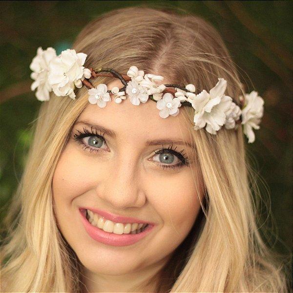 Tiara de Flores Libélula Eloá