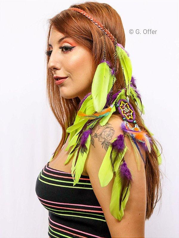 Headband de Penas Iandra