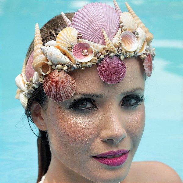 Coroa de Conchas Sereia Andrina