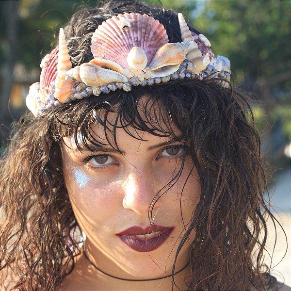 Coroa de Conchas Sereia Caliandra