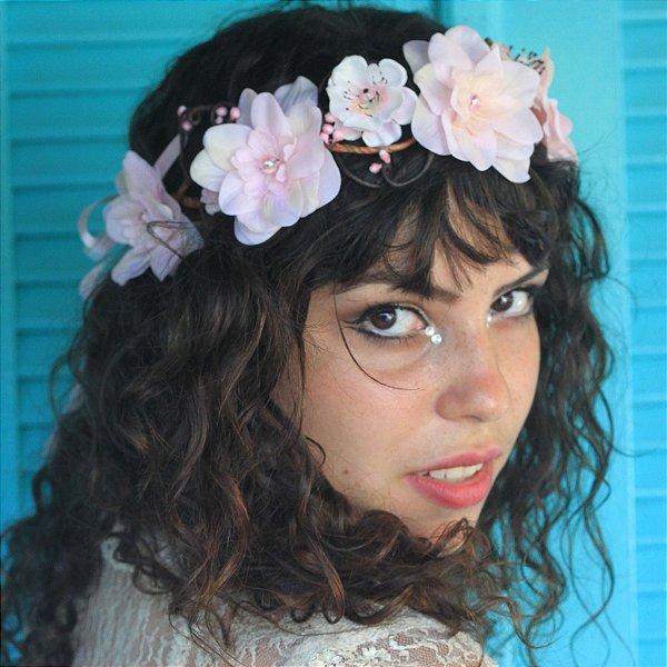 Coroinha de Flores Afrodite Rosa