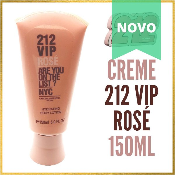 Creme Hidratante Importado 212 VIP ROSÉ 150ml   Feminino