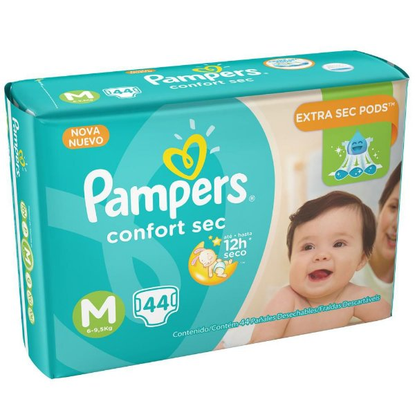 Pampers Total Confort M 44 Unidades - Botane best price