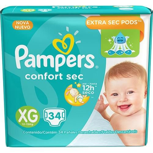 Pampers Confort Sec XG 34