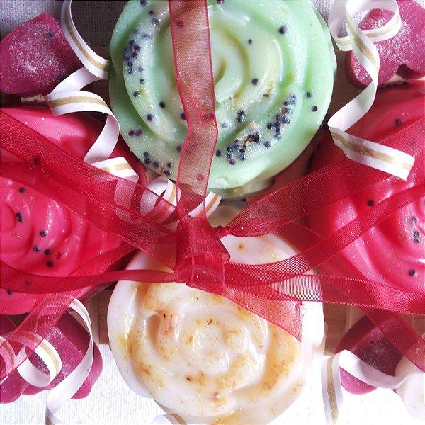 Rosas Vermelhas e Brancas Sabonete Artesanal 100g