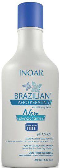 Inoar Brazilian Afro Keratin 250ml - Produtos para Cabelos