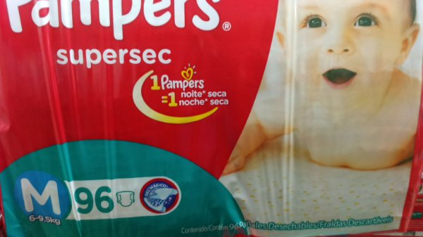 Fraldas Pampers Supersec M