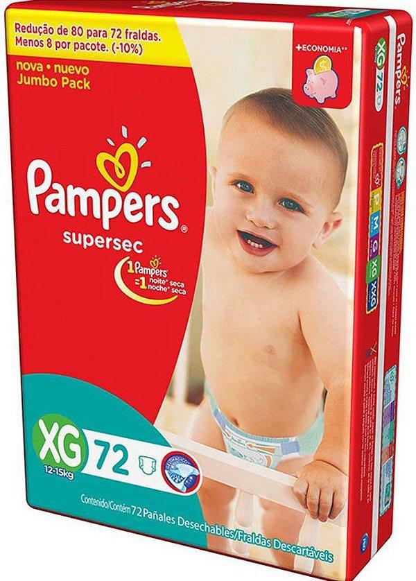 Fralda Pampers Confort Sec Xg 72 Unidades