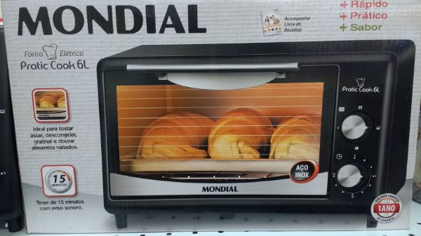 Forno Elétrico Mondial Pratic Cook 6 Litros 110v