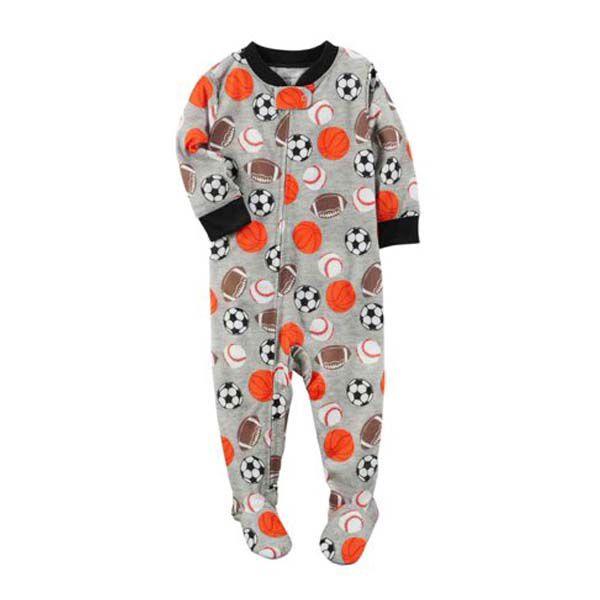 3efe55bf44df14 Macacão Pijama Com Pé Sport - Carter's