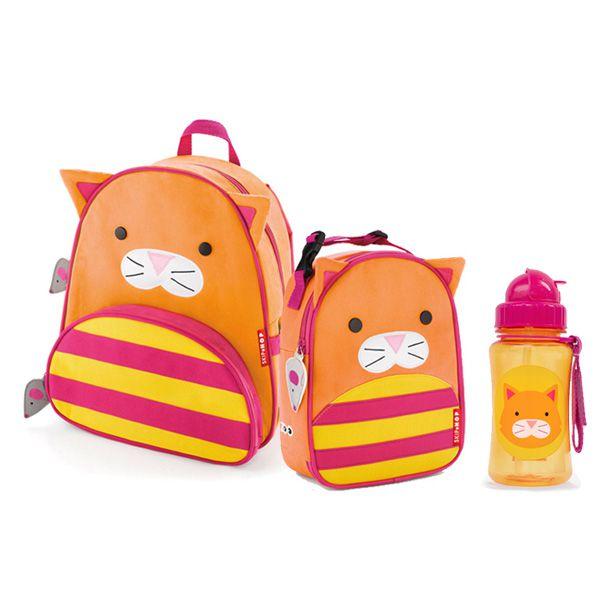 ba7fe1abbf Kit Mochila Lancheira e Garrafinha Zoo Gato Skip Hop - Boutique Baby