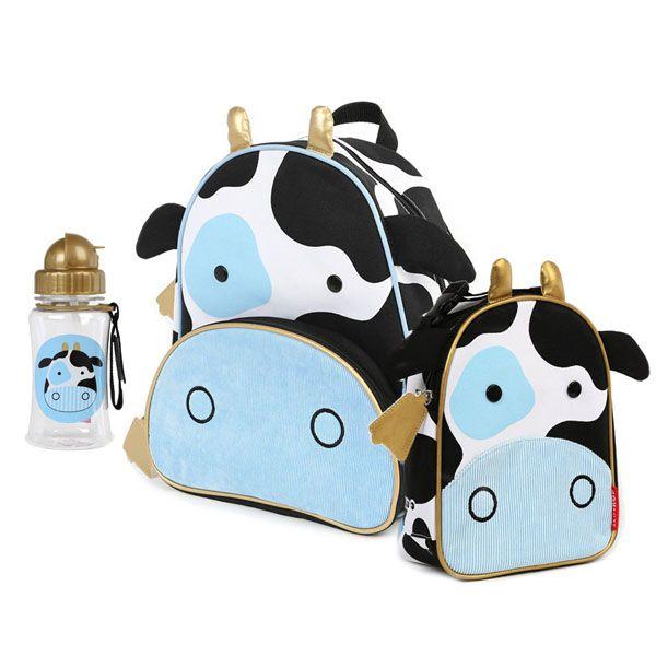 4171728554 Kit Mochila Lancheira e Garrafinha Zoo Vaca Skip Hop - Boutique Baby
