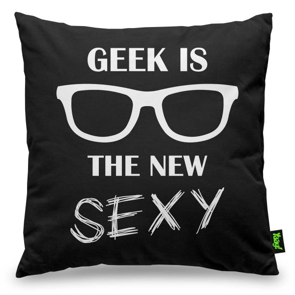 Almofada Geek is The New Sexy 40 x 40 cm