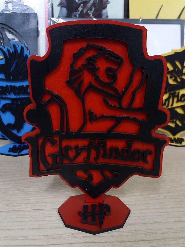 Brasão em MDF Colorido Harry Potter - Grifinória 14,5 x 15,0 cm