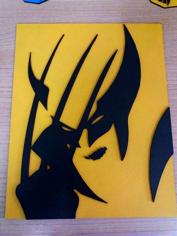 Quadro em MDF Colorido Marvel Wolverine 20,0 x 30,0 cm