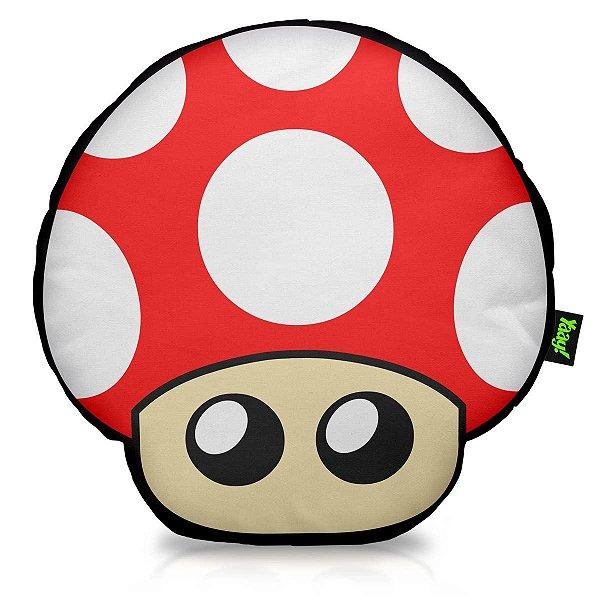 Almofada Recortada Gamer Nintendo Super Mario Cogumelo 40 x 40 cm