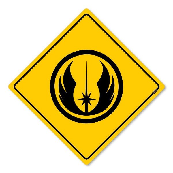 Placa Decorativa Star Wars Jedi Order 30 x 30 cm